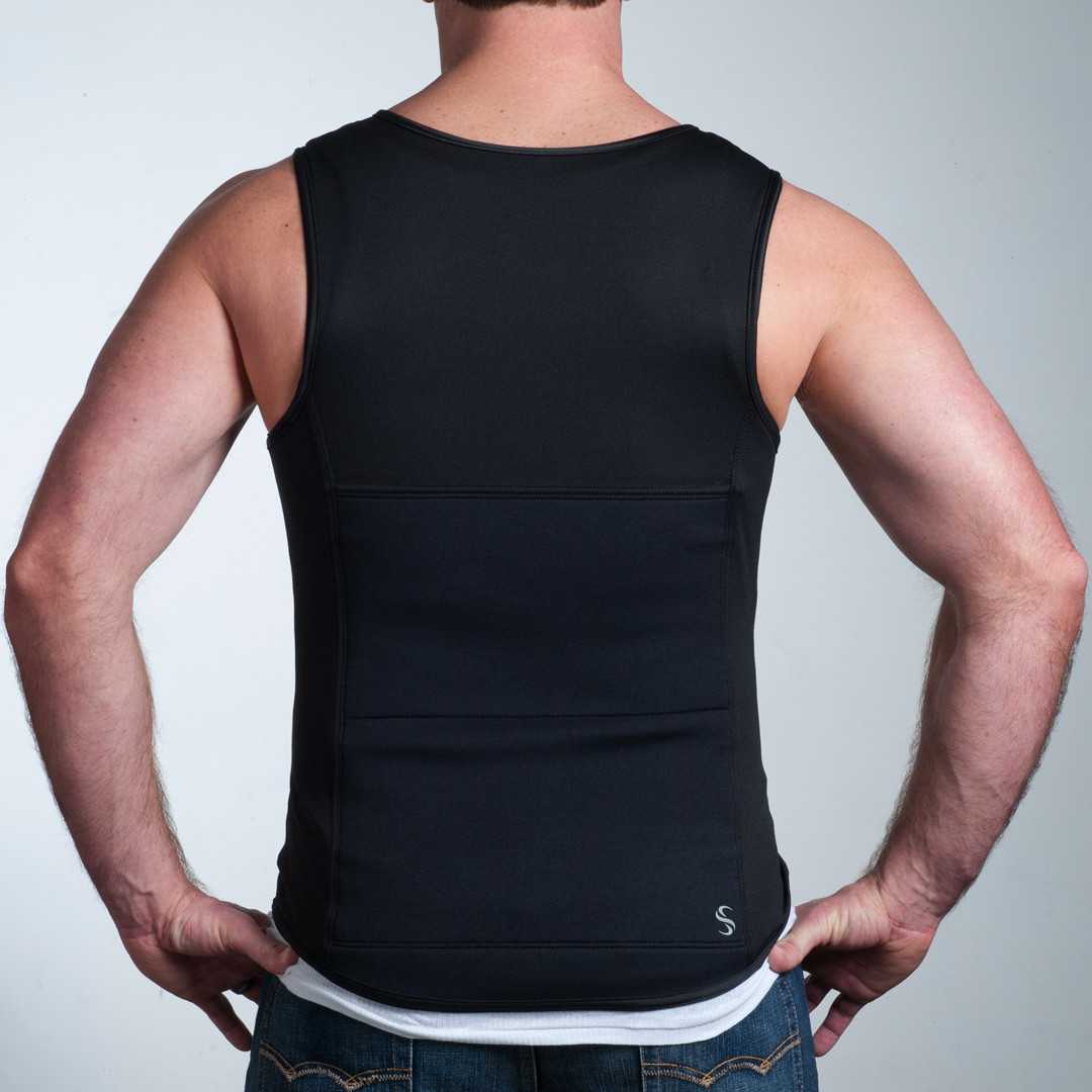 Spand-Ice Activewear | Hot + Cold Therapy for Back Relief | Mens Revive Tank Back