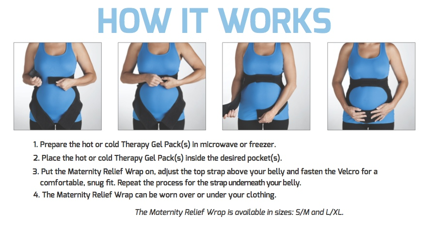 Pregnant Belly Support Back Pain Relief Maternity Wrap Spand Ice