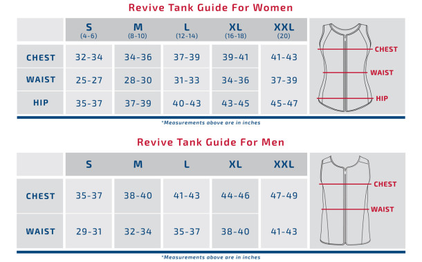 Spand-Ice Size Chart (Mens/Womens)